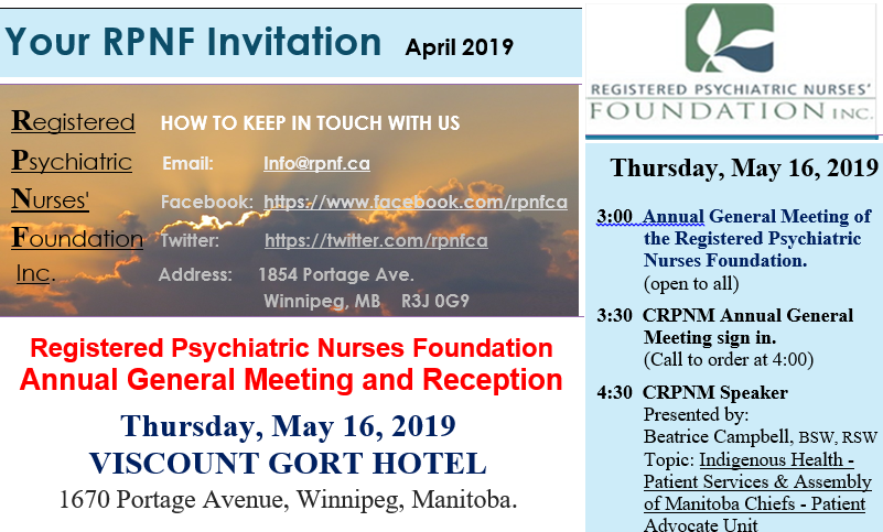 Your RPNF Invite! April 2019 Issue